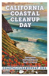 Poster for California Coastal Cleanup Day 2018